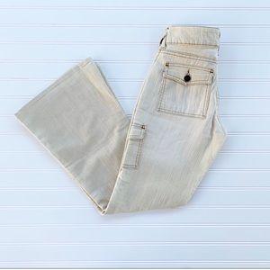 LEI vintage cream beige lowrise flare jeans